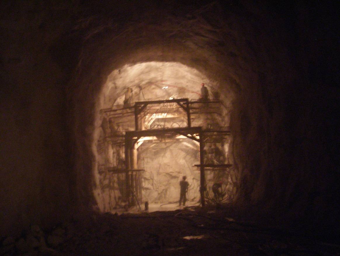 Excavation of main tunnel #2