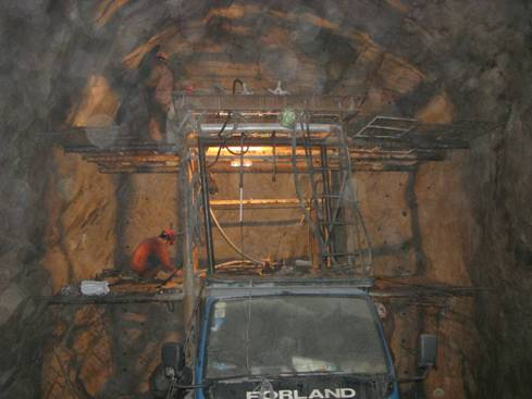 The construction tunnel